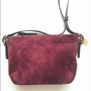 Coach Plum Suede small shoulder bag